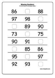 missing numbers worksheets teachers printables kindergarten