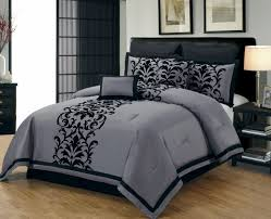 Black Bedding Sets Queen Bedroom Grey Comforter Sets Queen Trendy Warm Bed Blanket For