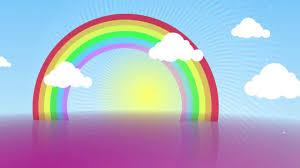shiny day rainbow free animation background aa vfx