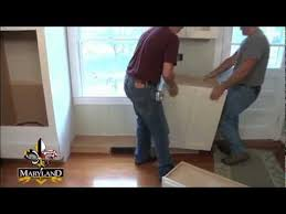 install kitchen base cabinets how to install base cabinets maryland kitchen cabinets youtube