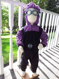 Minion Halloween Costume Baby Child Size 2t 3 Evil Purple Minion Costume Halloween Baby