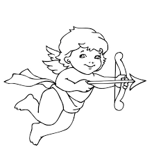 coloring elegant cupid coloring valentine pages