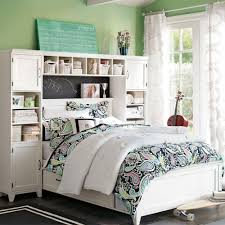 Small Teenage Bedroom Decorated With Paisley Wallpaper And by Marvellous Ideas For Teen Rooms Decoration Interior Kopyok