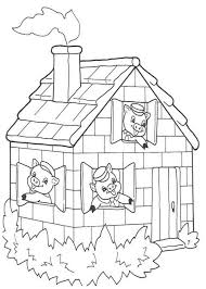 photos 3 pigs coloring pages pigs