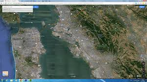 Google Maps San Francisco by Oakland California Map