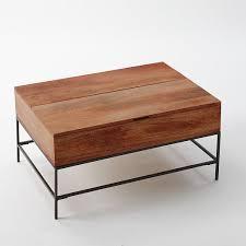 west elm industrial storage coffee table rustic storage coffee table café west elm for the home