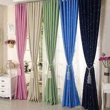 Bright Colored Curtains Anself 2pcs 100 250cm Modern Punching Grommet Blackout Curtain