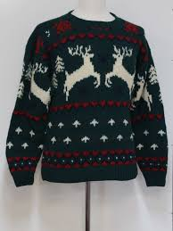 mens classic reindeer ugly christmas sweater classic made in 90s
