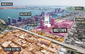 Miami Neighborhoods Map by The Location Hyde Midtown Miami