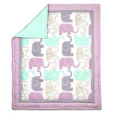 Purple Elephant Crib Bedding Little Peanut Lilac Crib Bedding Set