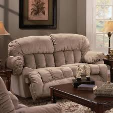 casual rocker recliner loveseat with lift up footrests 524 by