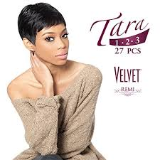 velvet remi tara 246 bob hairstyle amazon com outre velvet tara 2 4 6 color 1 remi human hair weave