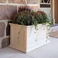beige self watering planters pots u0026 planters the home depot