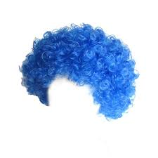 wigs for halloween amazon com seasonstrading economy blue afro wig halloween