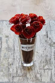 Floral Food by Broquets Are Beautiful Beef Jerky Floral Arrangements