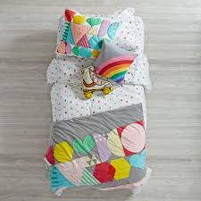 Land Of Nod Girls Bedding by Rainbow Charm Duvet Cover The Land Of Nod