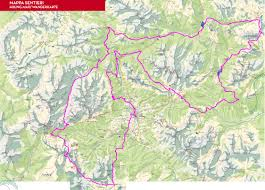 Dolomites Italy Map by The North Face Lavaredo Ultra Trail Path