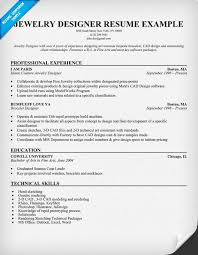 Cad Designer Resume Jewelry Designer Resume Example Resumecompanion Com Resume