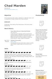 Journalism Resume Samples by Staff Writer Resume Samples Visualcv Resume Samples Database