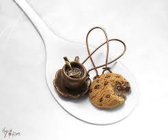 food earrings chocolate chip cookie earrings miniature food cookie jewelry hot