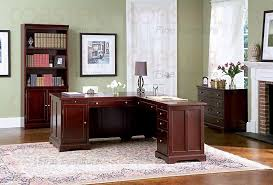 L Shaped Home Office Furniture Rich Cherry L Shaped Home Office Set Office Sets