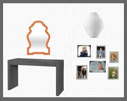 queen anne entry table entry jonathan adler queen anne mirror in orange lacquer bungalow