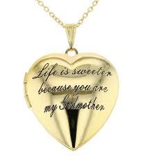 godmother necklace heart locket godmother necklace goddaughter pendant 19 in