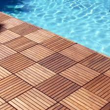 buy le click teak flooring tiles exclusive box of 10 tiles teak