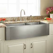 stainless steel apron sink 42 ackerman 60 40 offset double bowl stainless steel farmhouse sink