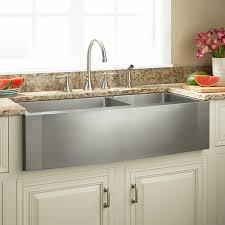 double basin apron front sink 42 ackerman 60 40 offset double bowl stainless steel farmhouse sink