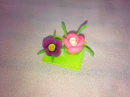 easy flower making modelling clay crafts for kids youtube