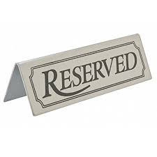 metal reserved table signs 10 stainless steel reserved table signs barbits tabletop tent type