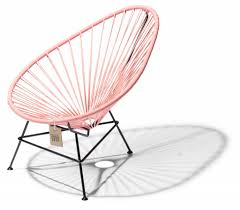 Acapulco Chair Replica Acapulco Chair Baby Pink Salmon With Black Frame The Original