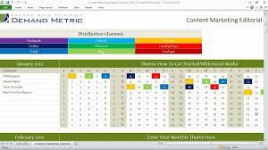 content marketing editorial calendar youtube social media template