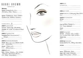 makeup face charts blank chart bobbi brown