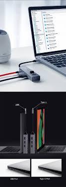 Baseus USB Atau Type C 3 0 hingga 3 USB3 0 2 USB2 0 OTG HUB