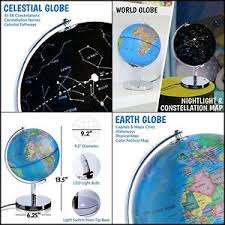 earth globes that light up xmas gift illuminated globe led 3 in 1 light up globes w stand