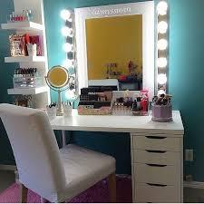 Diy Vanity Table Makeup Vanity With Lights Ikea And Mirror Diy Drawers Ebay