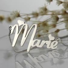 Sterling Silver Nameplate Necklace Online Get Cheap Sterling Silver Nameplate Necklaces Aliexpress