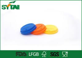 plastic flat reusable cups lids blue color for matching paper