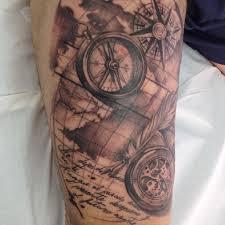 Map Tattoo Compass Pocket Watch And Old Sailor Map Melina Villaverde U2026 Flickr
