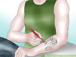 how to give yourself a tattoo without a gun 13 steps