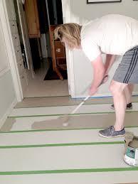 lindsay drew painting a linoleum floor house