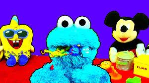 count crunch cookie monster eats disney cars teenage mutant