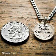 necklaces with names engraved silver name necklace names and birthdate engraved on a mercury
