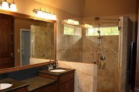 bathroom vanity under mirror beside walk in shower nice diy