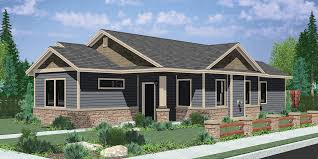 Modern One Story House Plans Ranch House Plans American House Design Ranch Style Home Plans
