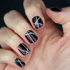 easy beginner nail art 3 line designs using nail striper youtube