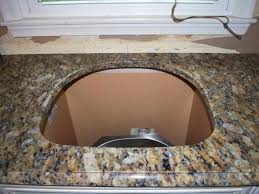 cutting countertop for sink how to install a granite kitchen countertop how tos diy