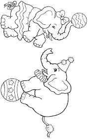 coloriage déléphants du cirque  Tête à modeler